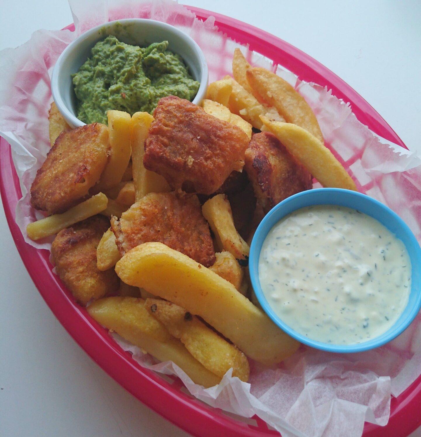 En ondskabsfuld omgang fish 'n' chips