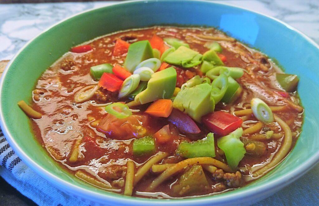Sfinxens soup spaghetti fra One Piece