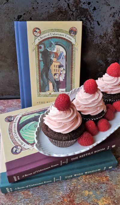 Grev Olafs hindbær cupcakes