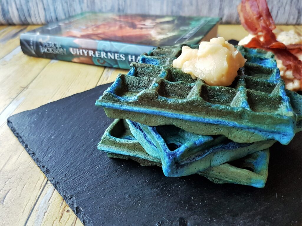 Blå vafler og æg fra Percy Jackson