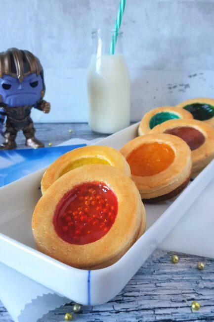 Thanos gyldne infinity sten småkager fra Avengers: Endgame