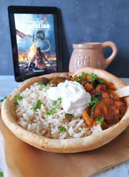Trafallansk curry i spiselige skåle