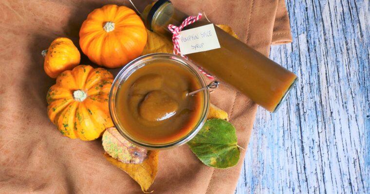 Pumpkin spice latte sirup – hjemmelavet kaffesirup med græskar