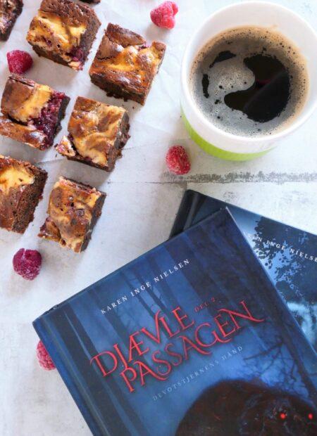 Brownie med cheesecake og hindbær fra Djævlepassagen